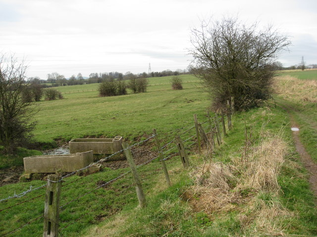 Footpath and Troughs near Shirland