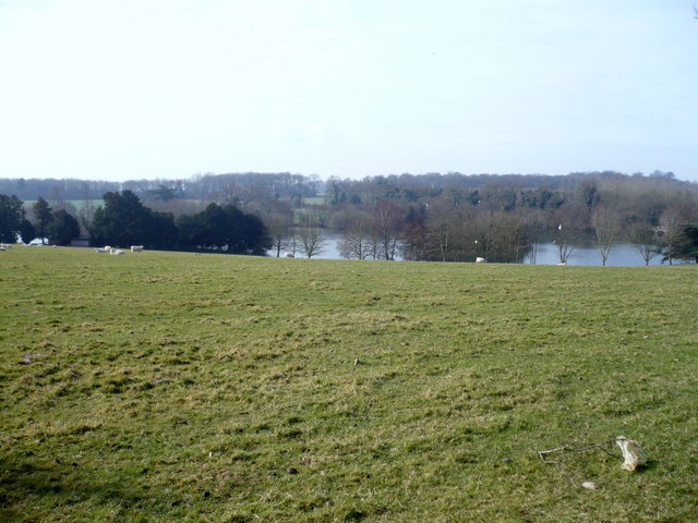 View of Eastwell Lake from the North Downs Way