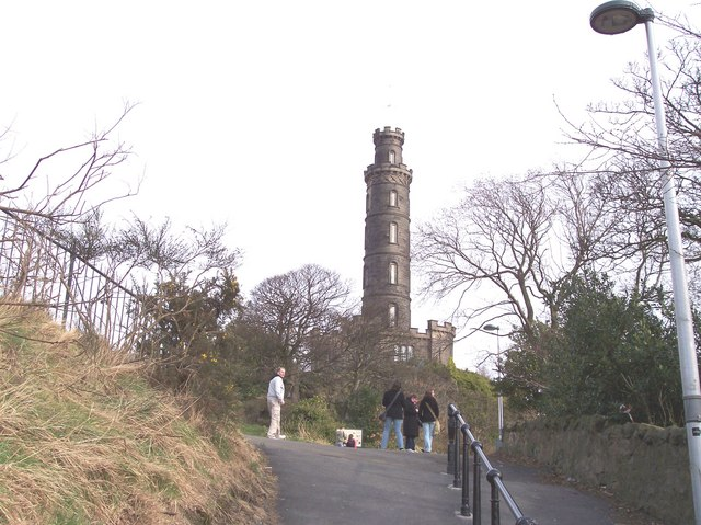 Nelson's monument on Calton Hill