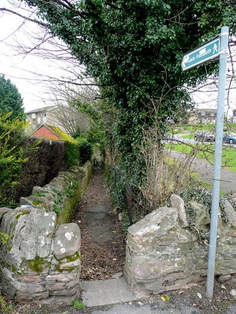 Footpath to Cawdor Arch Road, Ross-on-Wye