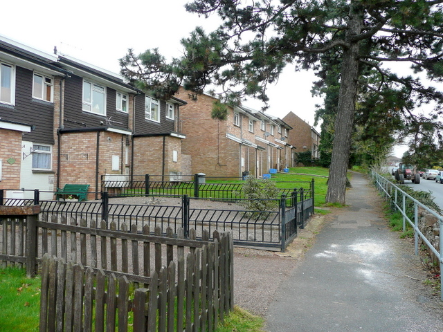 Housing on the west side of Brampton Road, Ross-on-Wye
