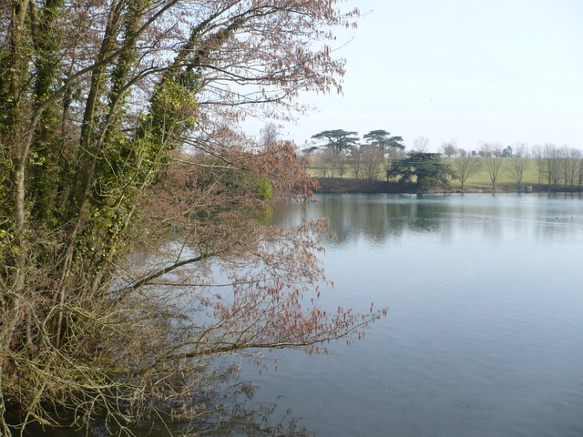 Eastwell Lake looking eastwards from the bridge
