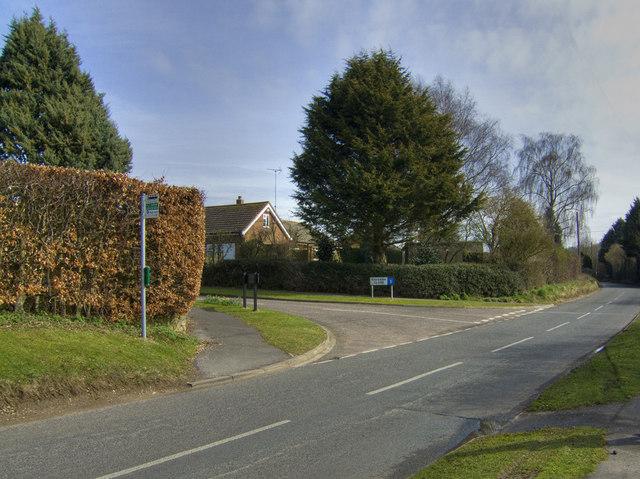 Junction of Raebarn Close / B3046