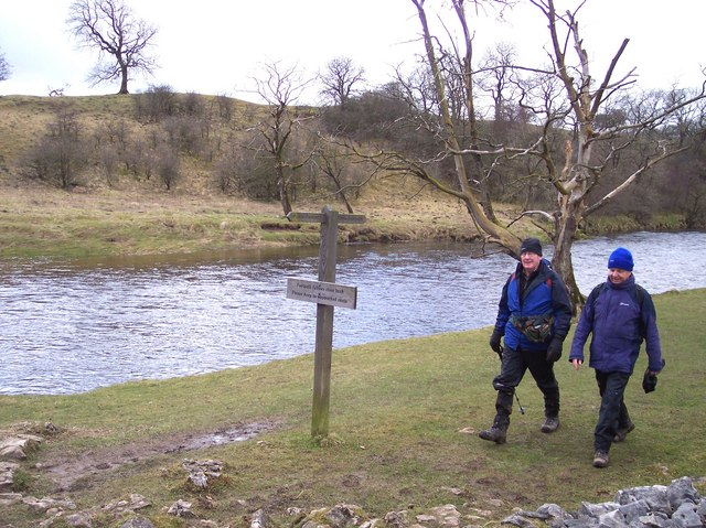 River Wharfe pathway sign