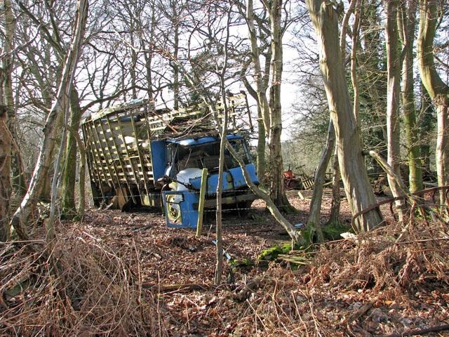 An old blue truck