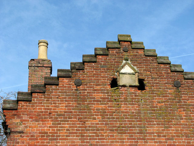 A stepped gable