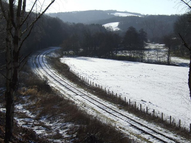 The Churnet Valley Railway in Snow