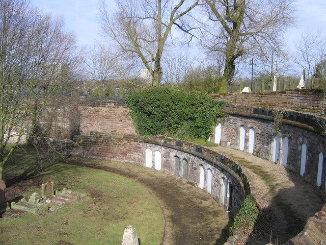 Sunken Amphitheatre, Cemetery Jewellery Quarter Birmingham