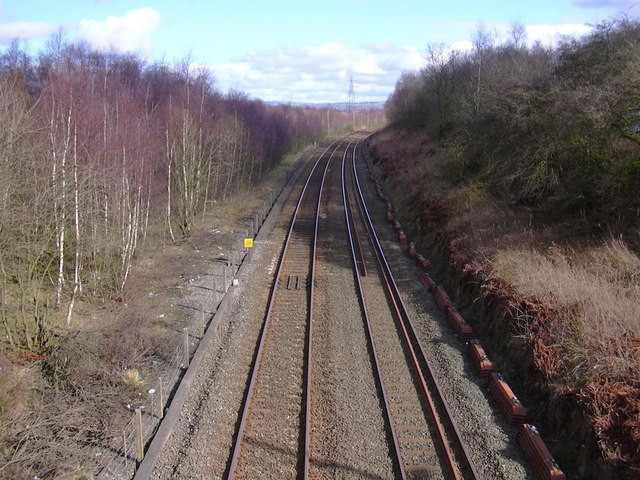 Railway looking towards Burnley