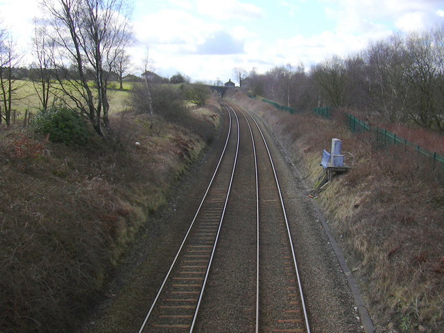 Railway looking towards Accrington