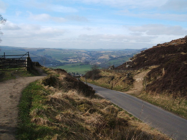 Road at Curbar Gap