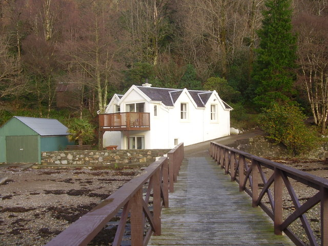 Pier Cottage from the jetty ,Loch Striven