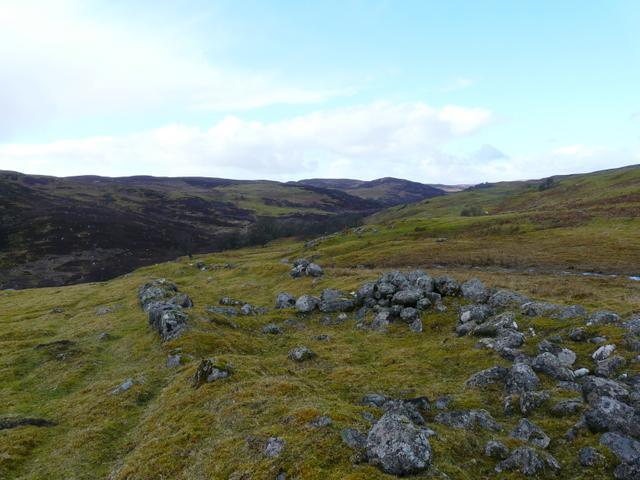 Remains of an old settlement near Leataidh