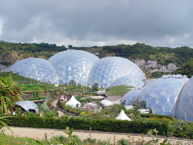 Gardens and biodomes, the Eden Project