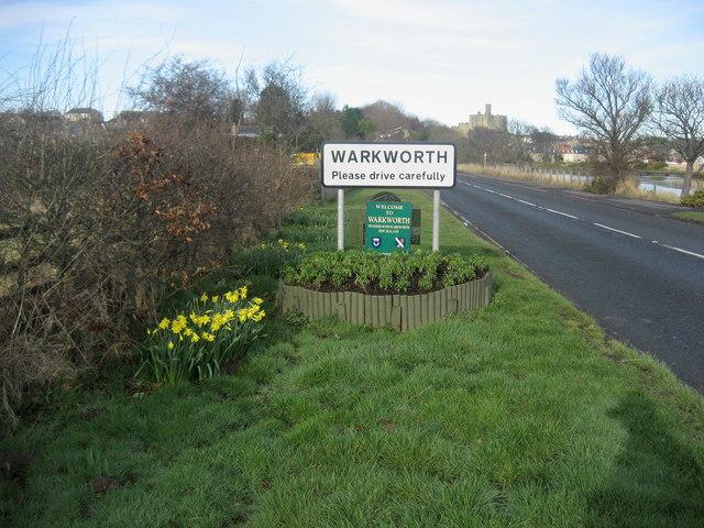 Entering Warkworth