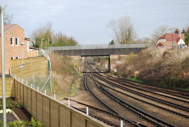 Audley Avenue Bridge crossing the mainline