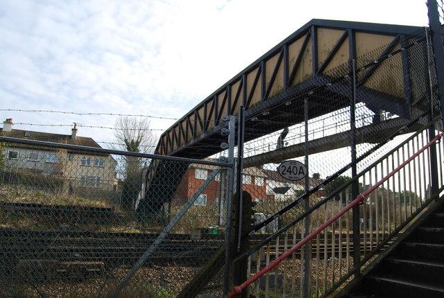 Footbridge over the mainline
