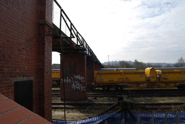 Footbridge over the railway sidings