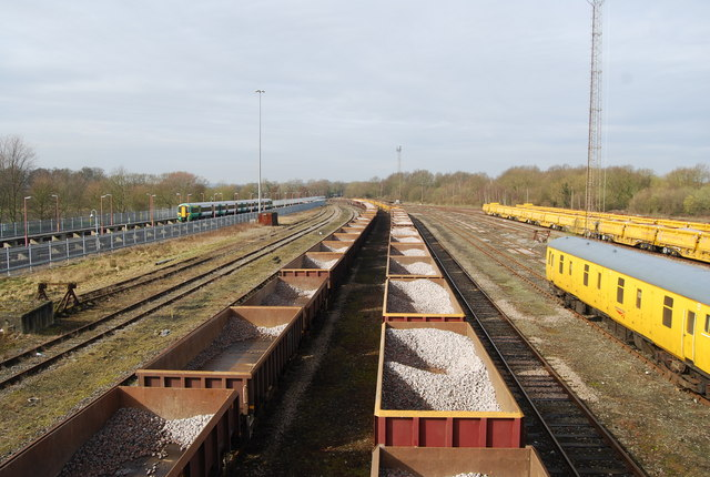 Wagons in the sidings, West of Tonbridge Station