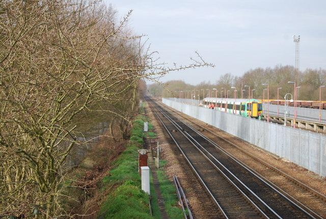 The Tonbridge to Redhill line