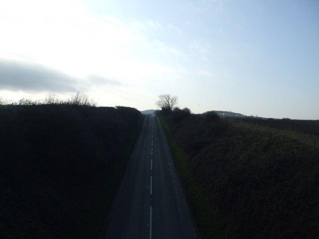 On the railway bridge looking towards Weybourne