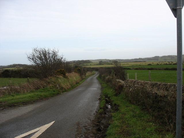 The Llaneuddog road at Pen-y-lon crossroads