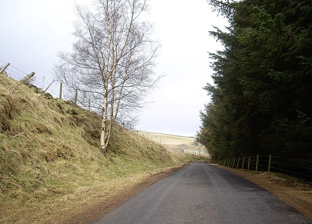 Road from Cabrach to Haugh of Glass
