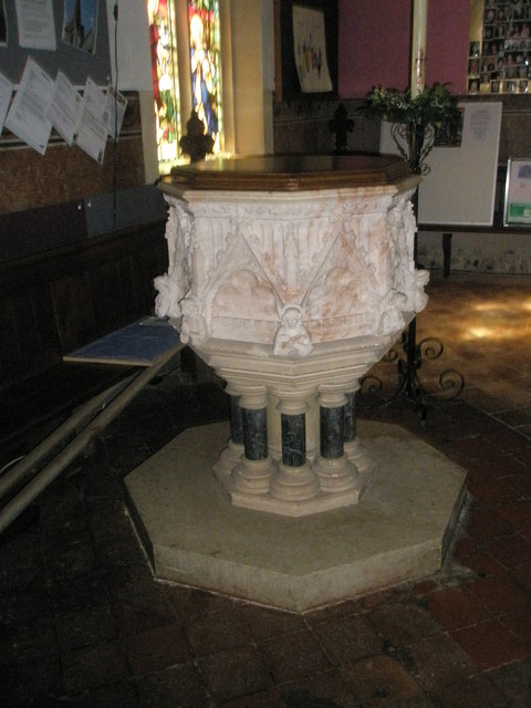 The font at Holy Trinity, Blendworth