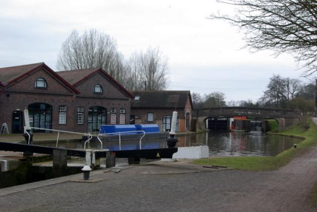 British Waterways buildings at Hatton Locks
