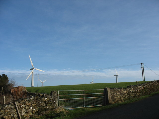 Wind turbines at Trysglwyn