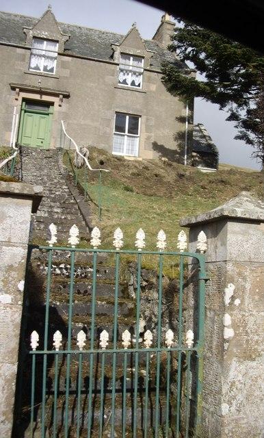Steps to Lower Cabrach manse