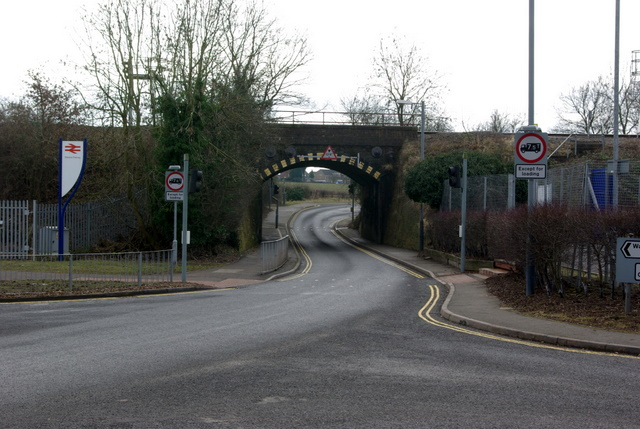 Bridge under the railway, west of Warwick Parkway Station