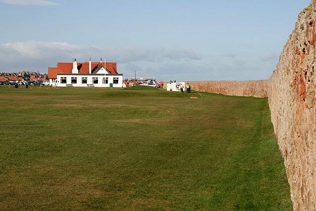 The 18th fairway at Dunbar Golf Course