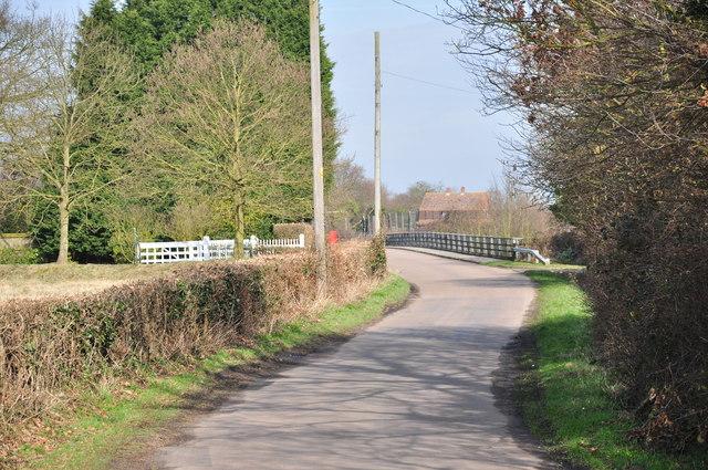 Spring Valley Lane towards the A120 bridge