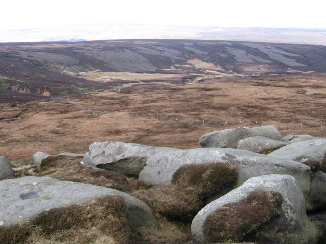 Barrow Stones towards Swains Greave