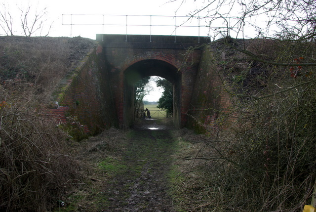 The footpath to Budbrooke goes under the railway