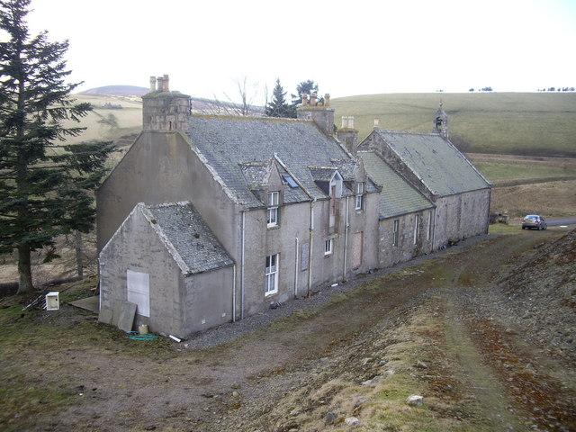 Lower Cabrach manse, vestry and church