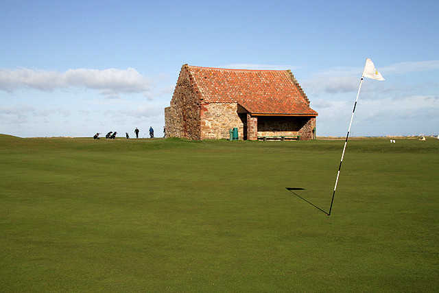 The 7th green at Dunbar Golf Course
