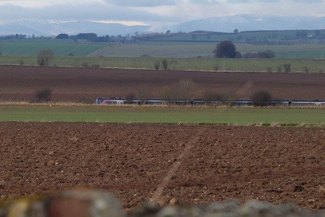 Southbound Train on the Aberdeen / Dundee Railway near Newton of Parkhill, near Arbroath
