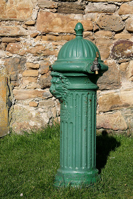 A drinking fountain at Dunbar Golf Course