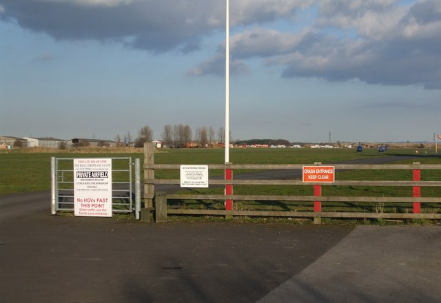 Breighton Airfield Entrance