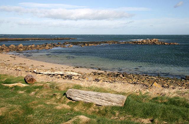 The coastline at Dunbar Golf Course