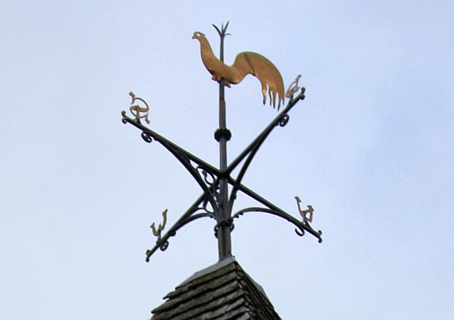 Weather vane, Ullingswick church spire