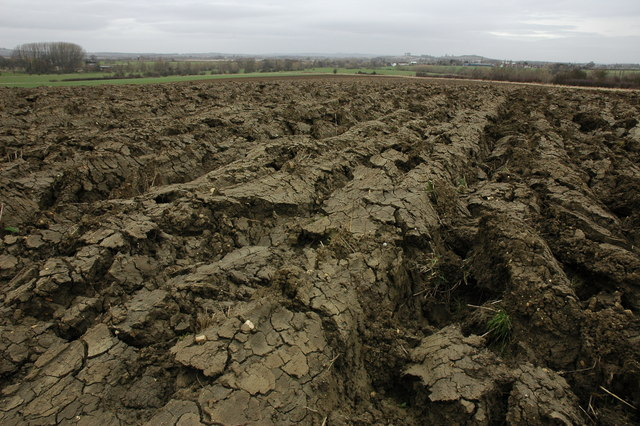 Ploughed field near Wormington