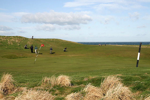 The 13th green at Dunbar Golf Course
