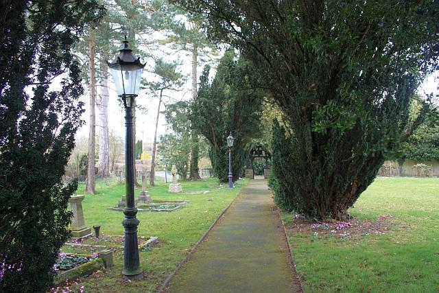 Church path, Ullingswick church yard