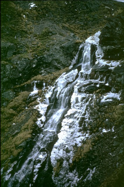 Frozen waterfall, Coire Garbhlach