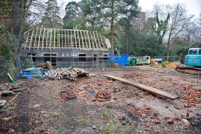 House being built beside Chilworth Drove