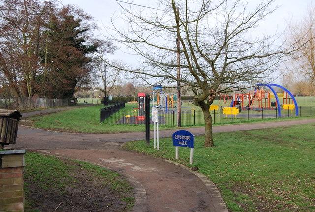 Part of the Riverside Walk through Tonbridge
