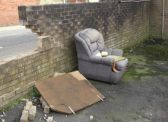 Rubbish off Kay Street, Rawtenstall